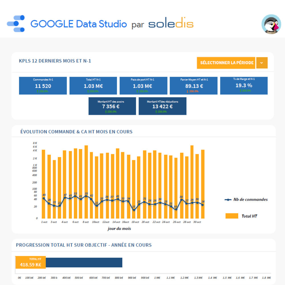 module - Informes y Estadísticas - Google Data Studio connector - 6