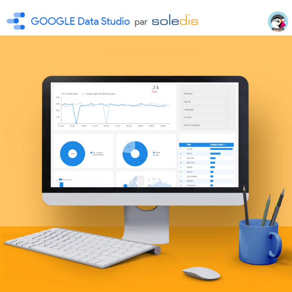 module - Analyses & Statistiques - Google Data Studio connector - 5