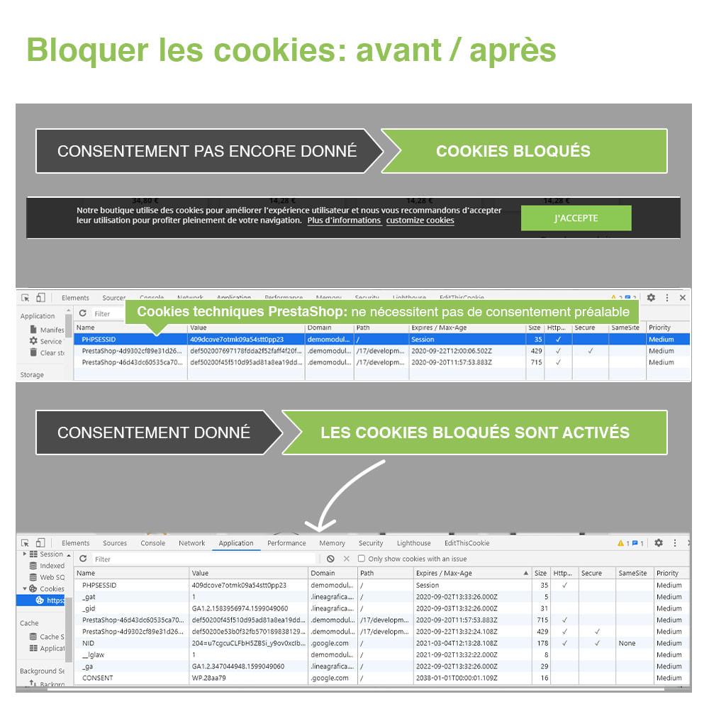 module - Législation - Loi Cookies RGPD (Avis + Bloqueur) - Mise à jour 2020 - 18