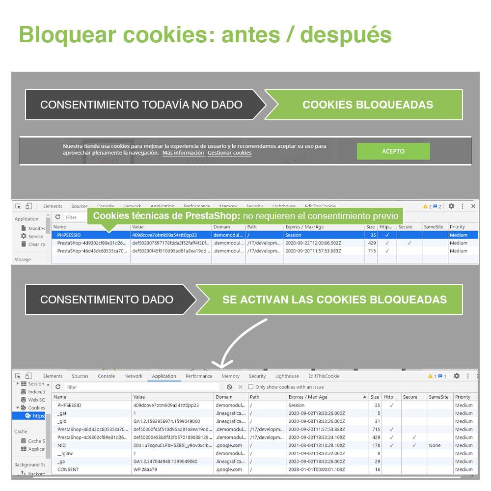module - Marco Legal (Ley Europea) - Ley de Cookies RGPD (Aviso + Bloqueador) - Nuevo 2020 - 18