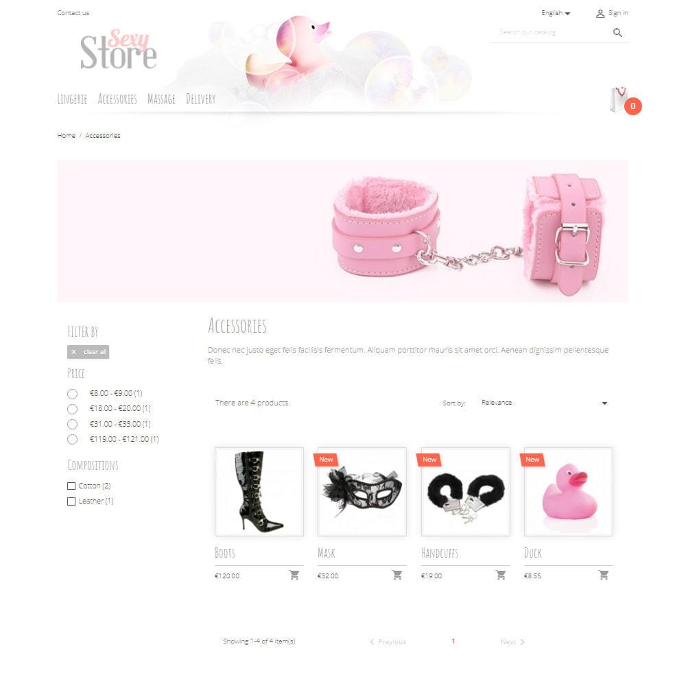 theme - Lingerie & Erwachsene - Sexy Store - 3