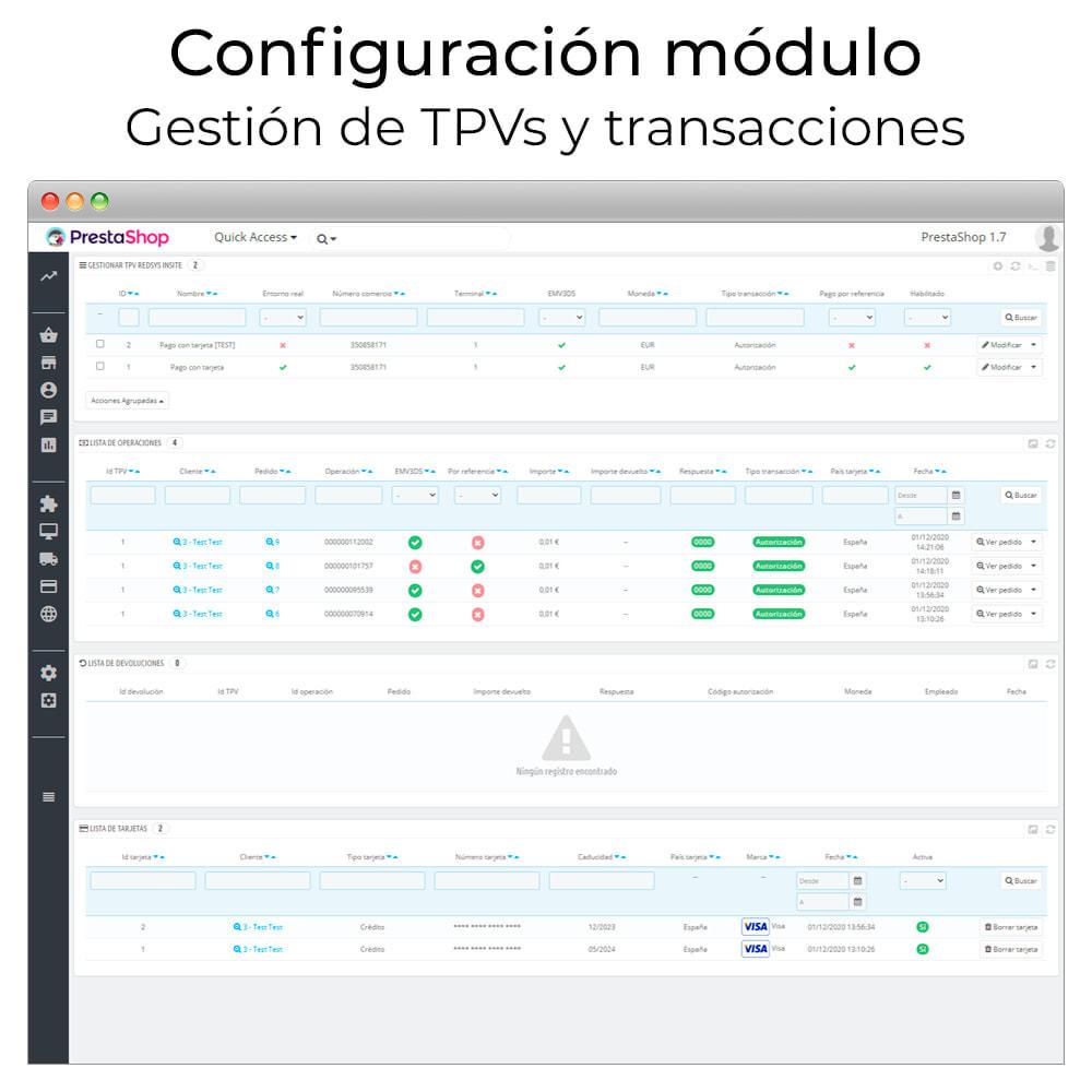 module - Pago con Tarjeta o Carteras digitales - Redsys Insite pago tarjeta y gestión de devoluciones - 3