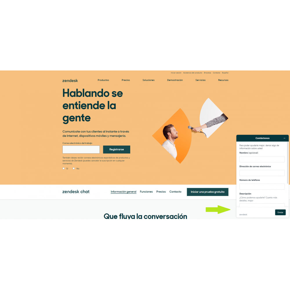 module - Asistencia & Chat online - Zendesk Chat Widget - 2