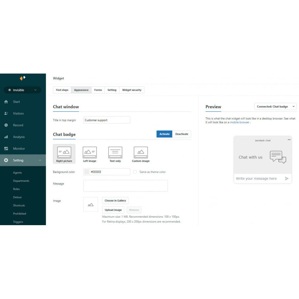 module - Support & Online Chat - Zendesk Chat Widget - 6