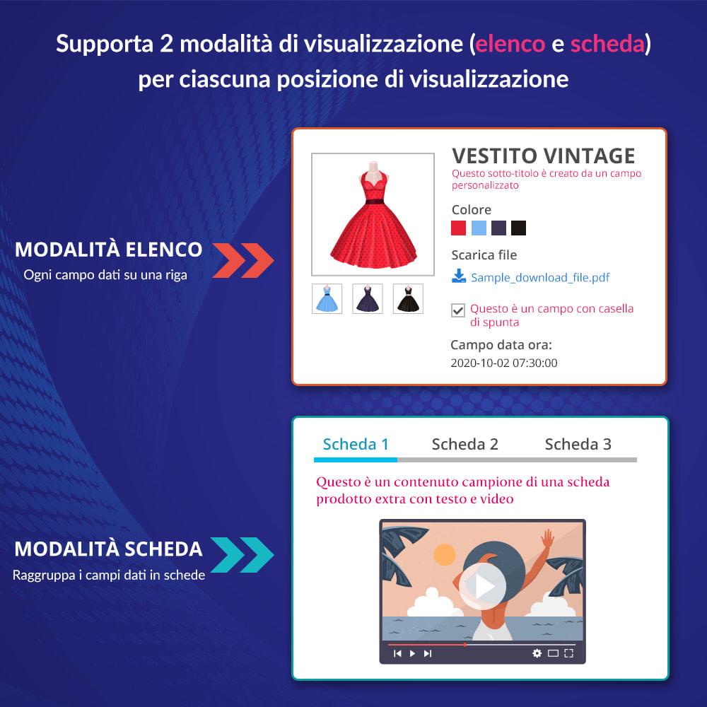 module - Altre informazioni & Product Tab - Campi e schede personalizzati sulla pagina del prodotto - 3