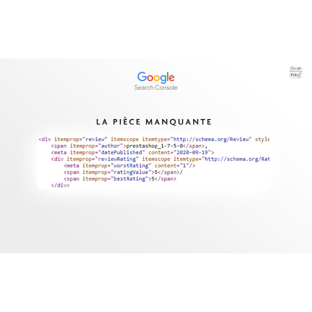 module - Avis clients - GoogleSearchConsole Validation AggregateRating - 3