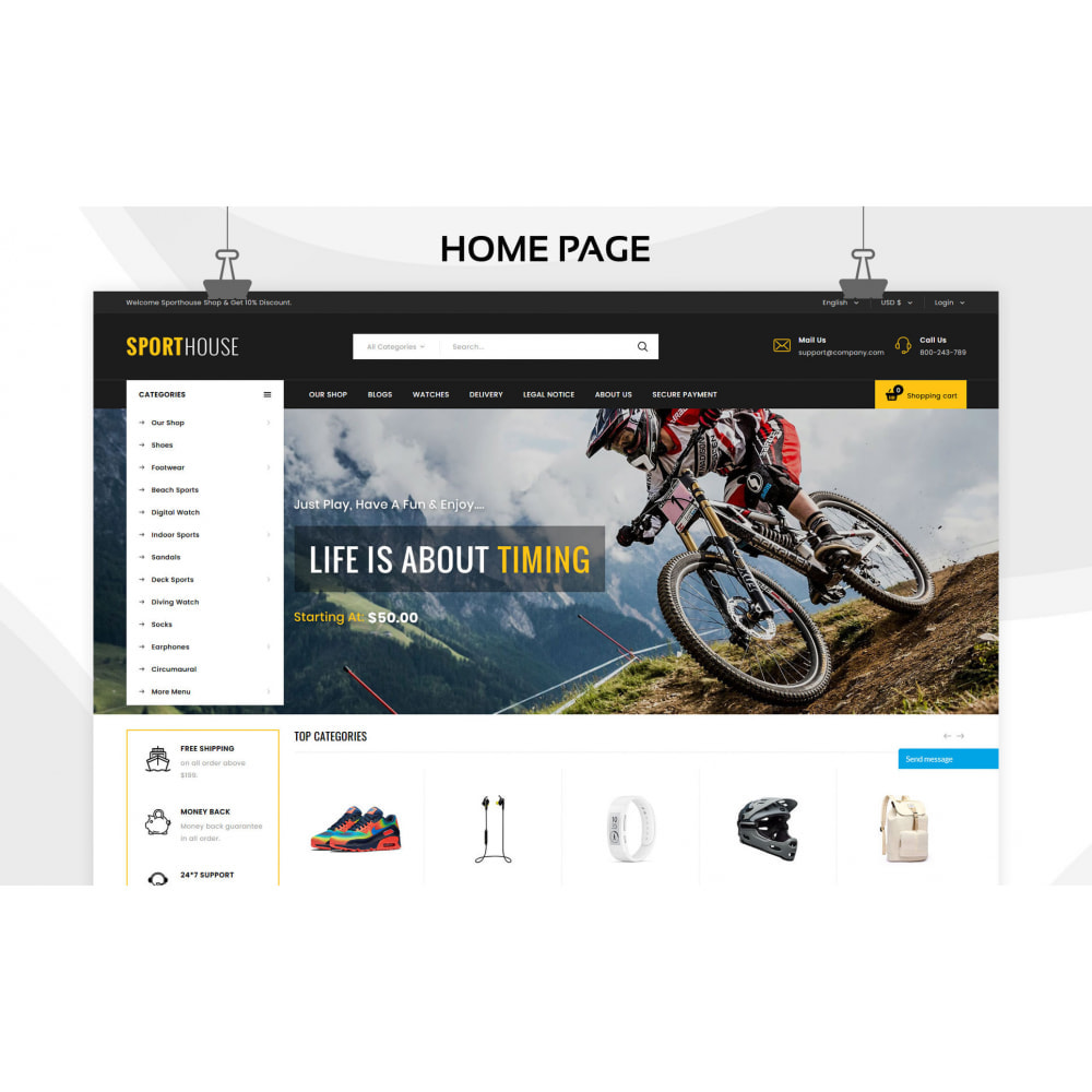 theme - Sports, Activities & Travel - Sport House Online Sports Store - 5