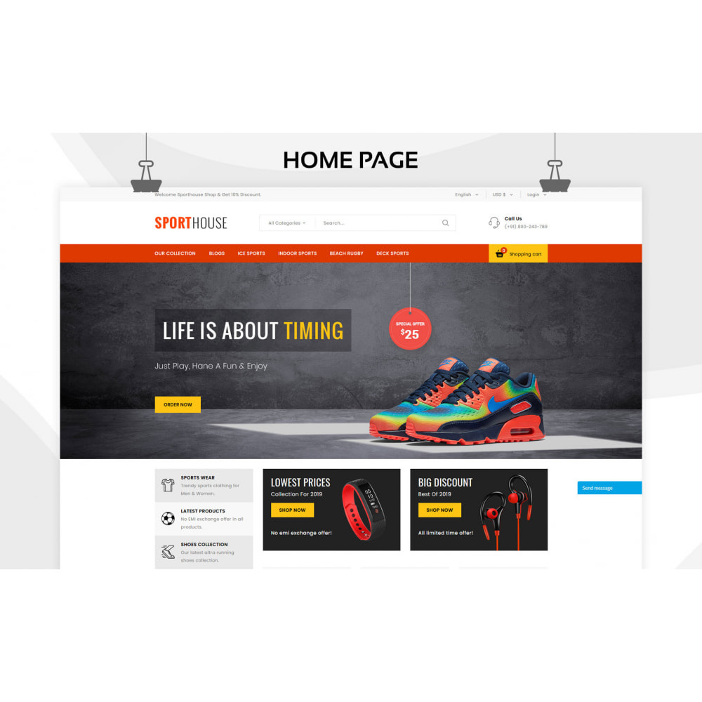 theme - Sport, Loisirs & Voyage - Sport House Magasin de sport en ligne - 5