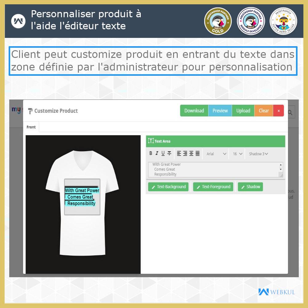 module - Déclinaisons & Personnalisation de produits - Web à Imprimer - Personnaliser le Produit - 1