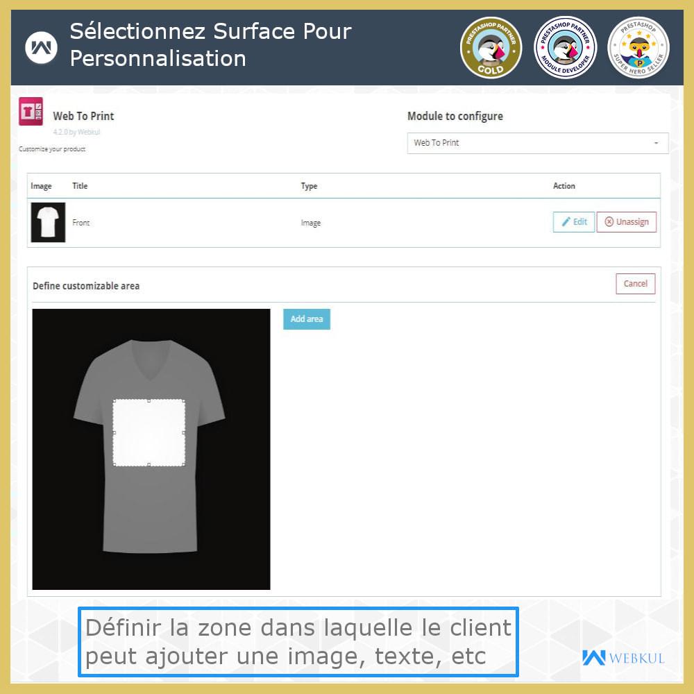 module - Déclinaisons & Personnalisation de produits - Web à Imprimer - Personnaliser le Produit - 9