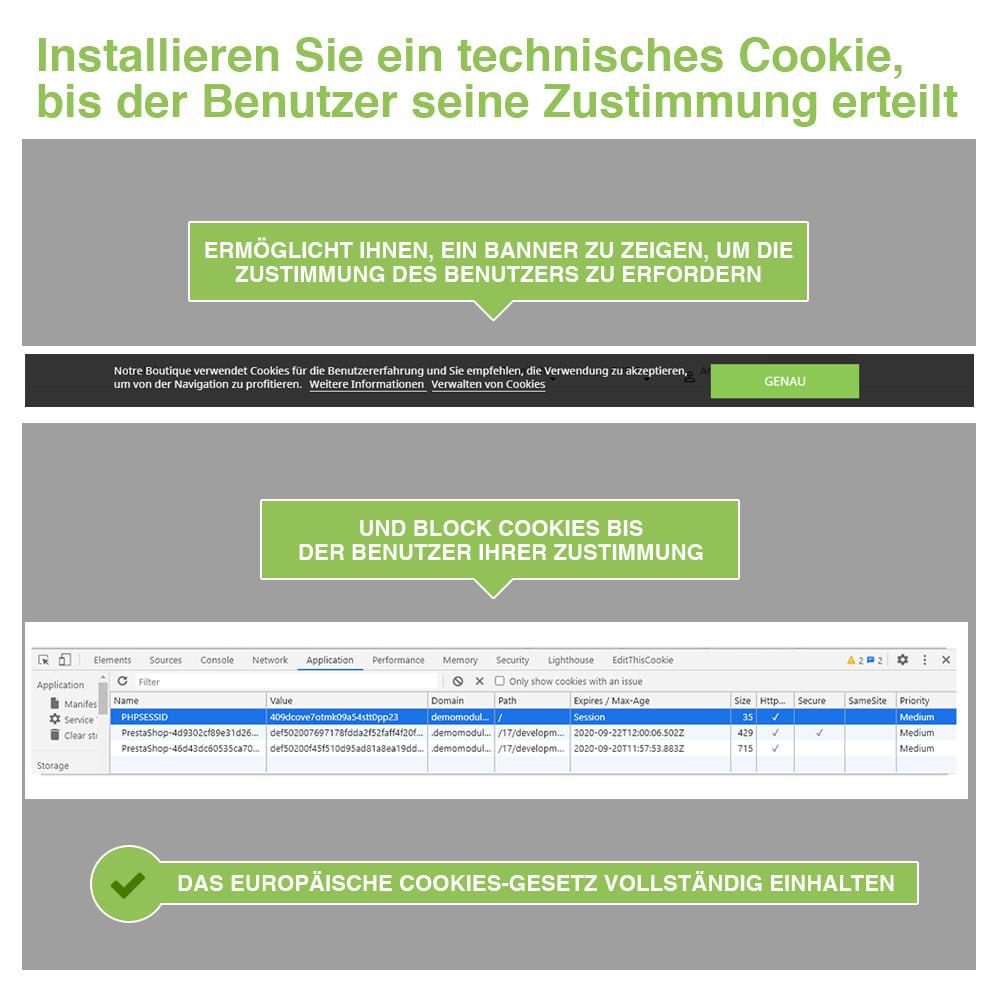 module - Rechtssicherheit - Cookie GDPR (Benachrichtigungs + Blocker) - 2021 Update - 3