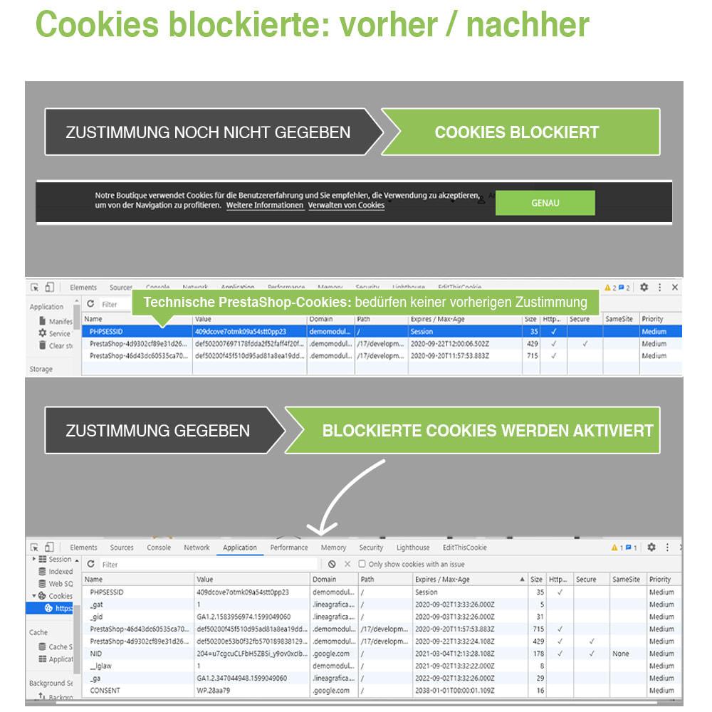 module - Rechtssicherheit - Cookie GDPR (Benachrichtigungs + Blocker) - 2020 Update - 18