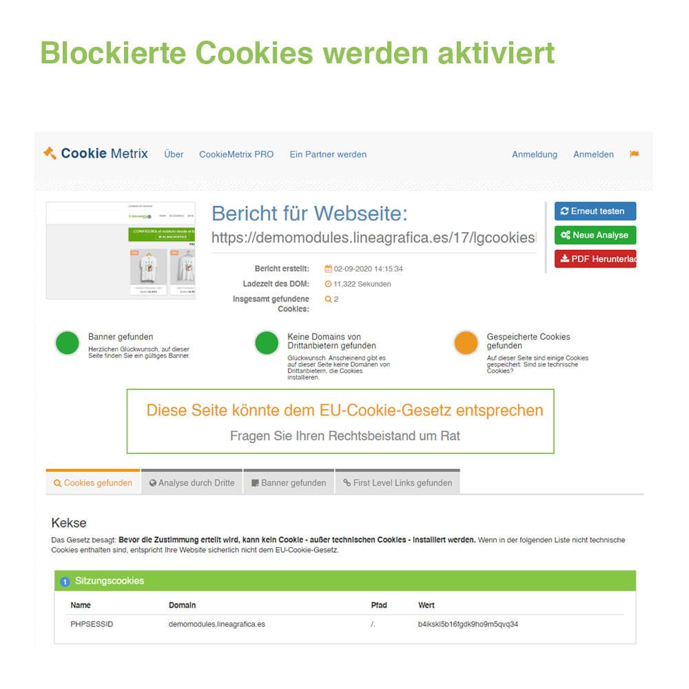 module - Rechtssicherheit - Cookie GDPR (Benachrichtigungs + Blocker) - 2020 Update - 19