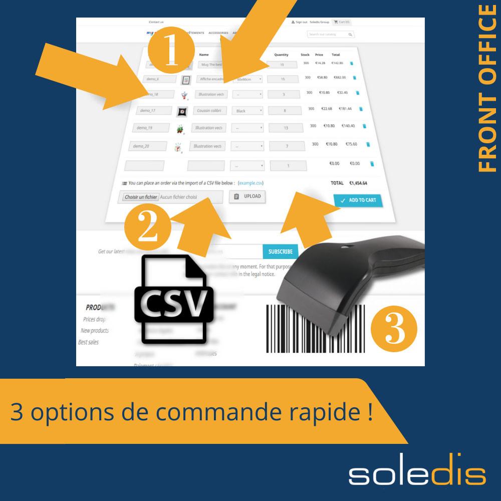 module - Inscription & Processus de commande - B2B : Quick Order by Form or CSV - 1
