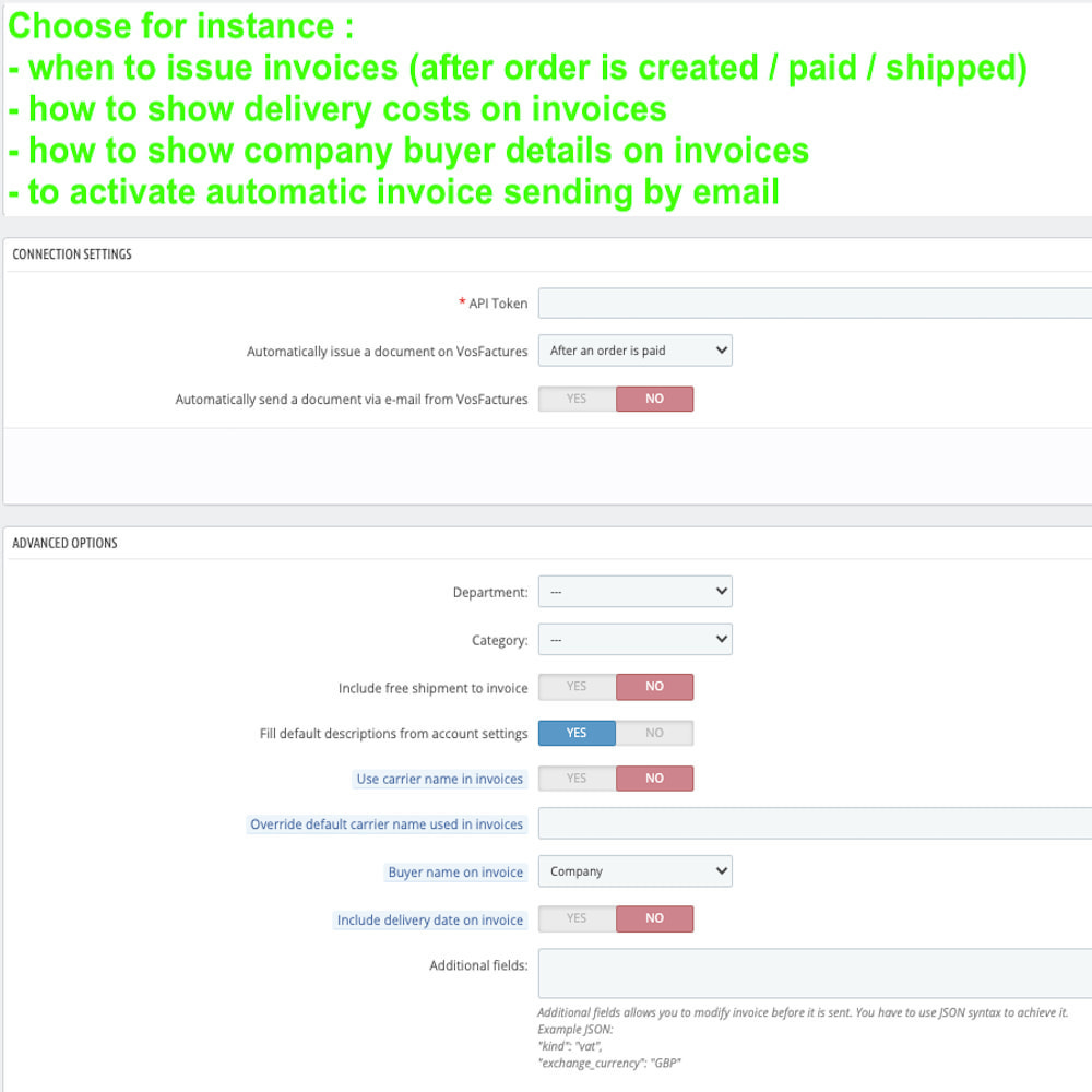 module - Contabilidade & Cobrança - VosFactures - Invoicing Multifunction - 4