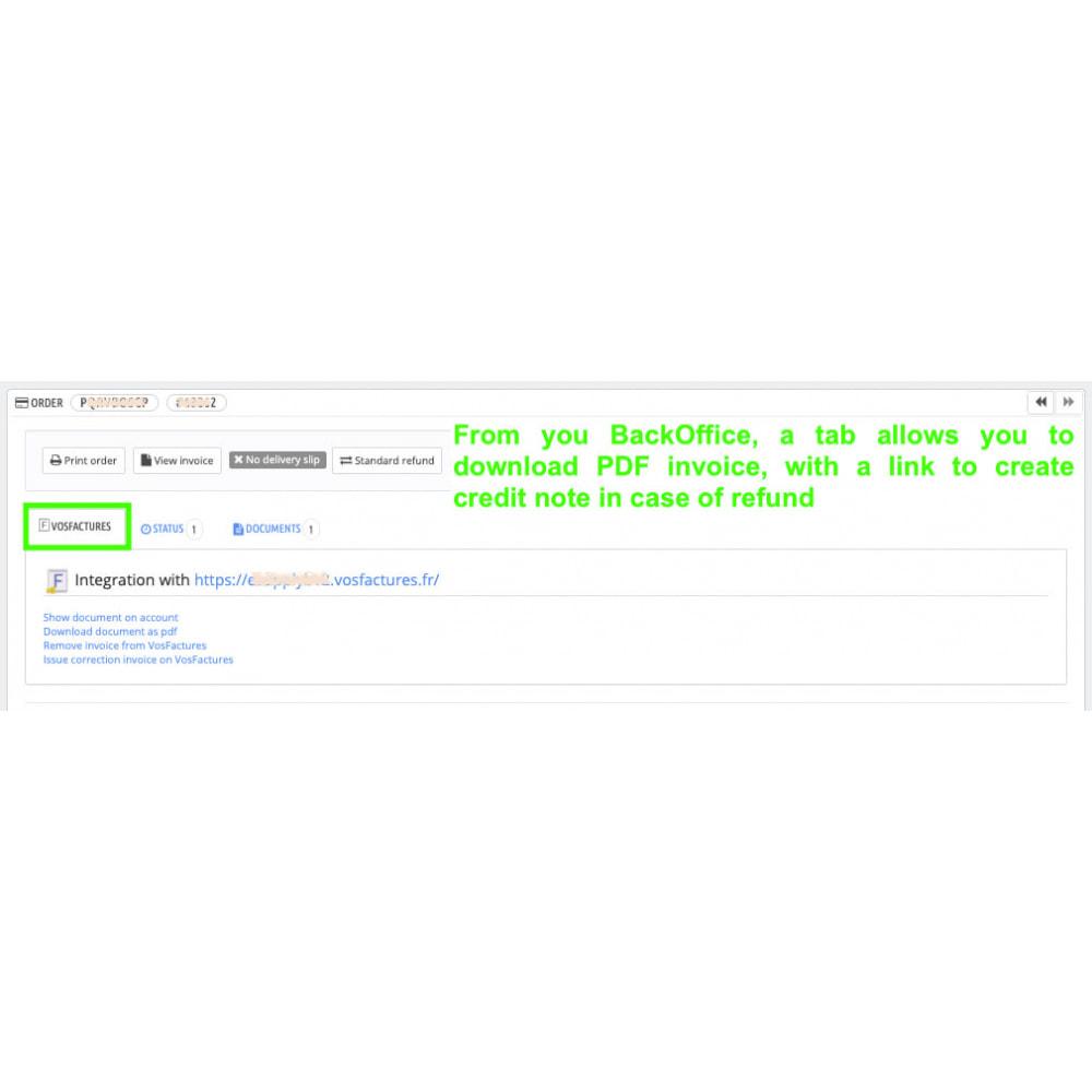 module - Contabilidade & Cobrança - VosFactures - Invoicing Multifunction - 5