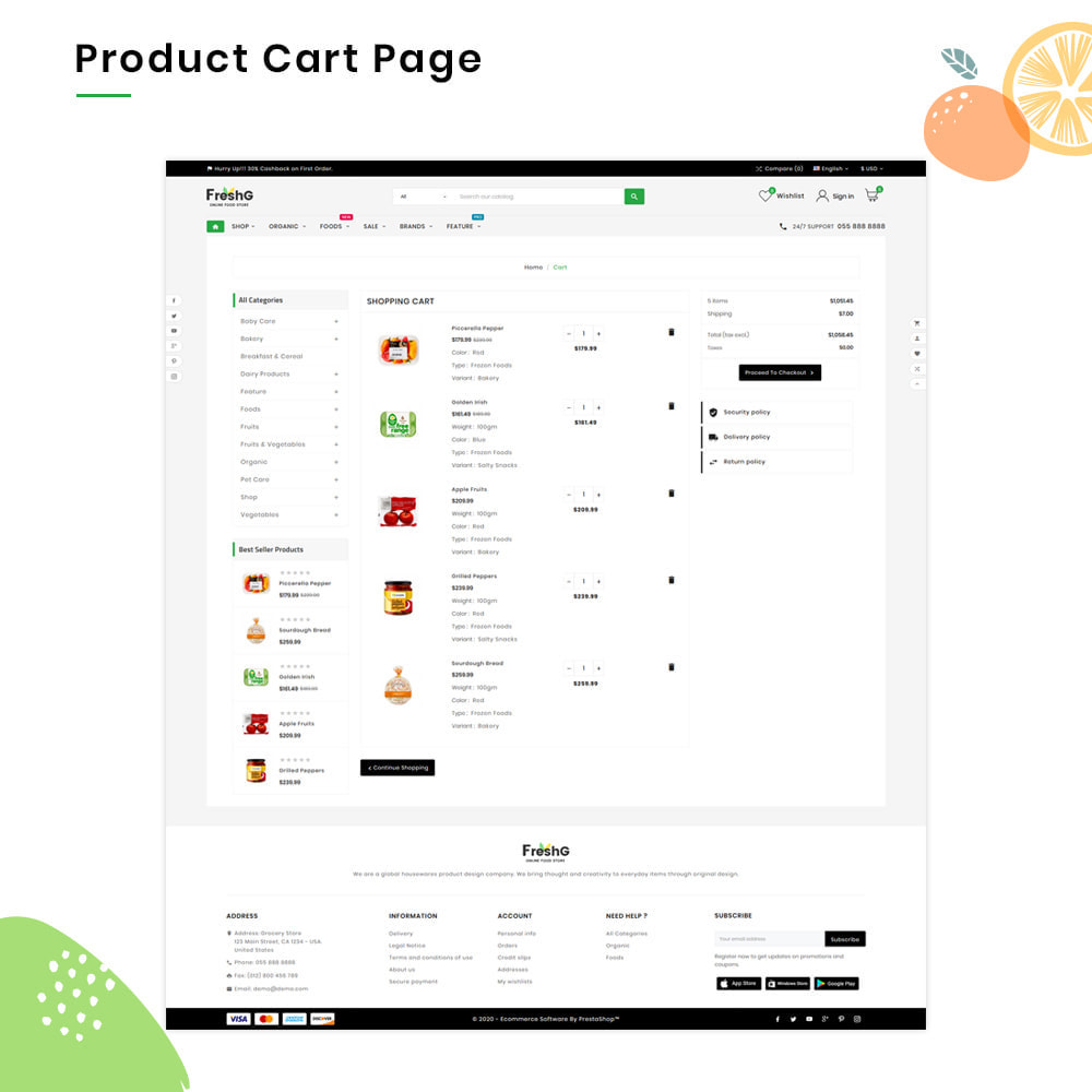 theme - Продовольствие и рестораны - FreshG Mega Grocery–Food Drink–Coffee Super Store v3 - 5