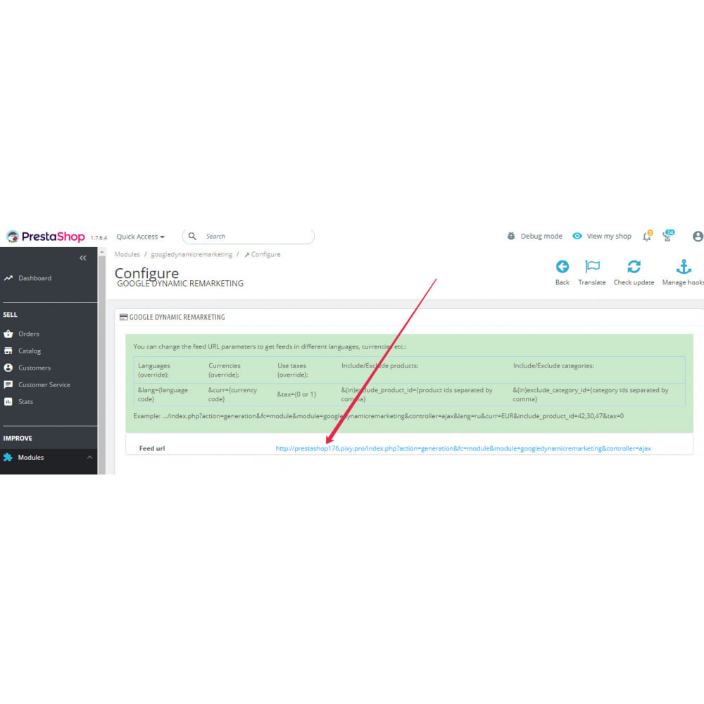 module - Remarketing & Paniers Abandonnés - Google Dynamic Remarketing (AdWords feed) - 11