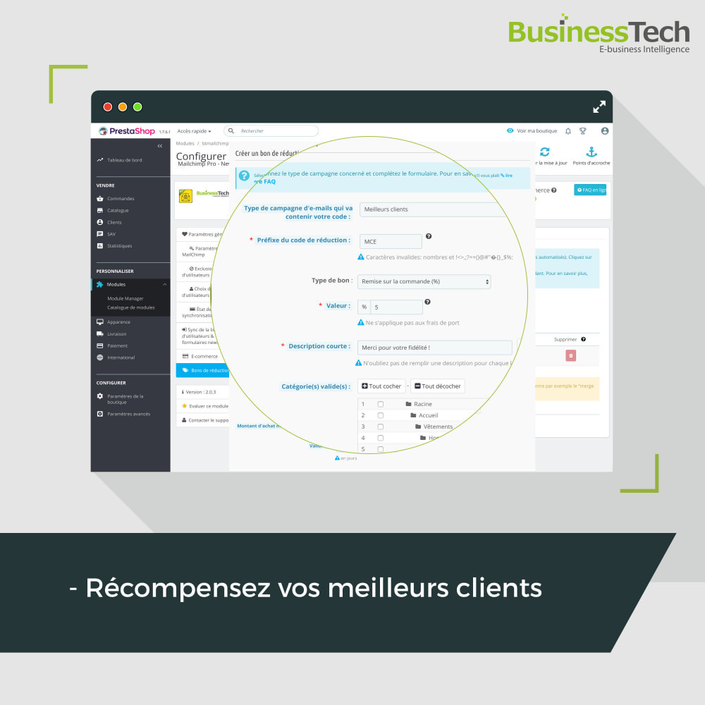module - Remarketing & Paniers Abandonnés - Newsletter & Marketing automation avec Mailchimp - 5