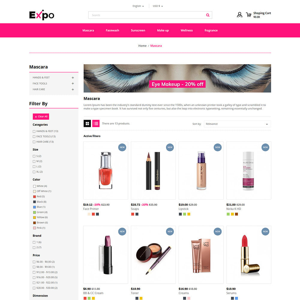 theme - Мода и обувь - Makeup Cosmetics - Beauty Gym Store - 3