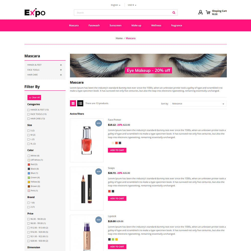 theme - Fashion & Shoes - Makeup Cosmetics - Beauty Gym Store - 4