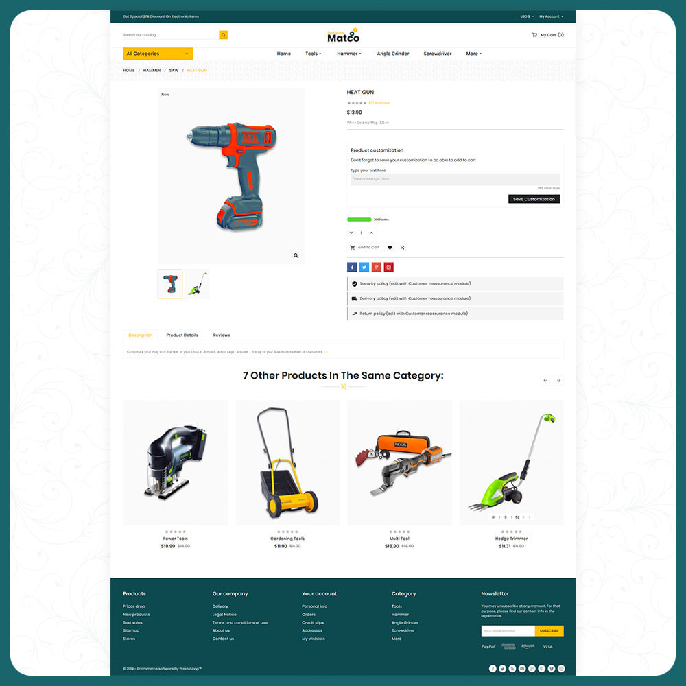 theme - Automotive & Cars - Utensili–Matco–Tools Super Store - 4