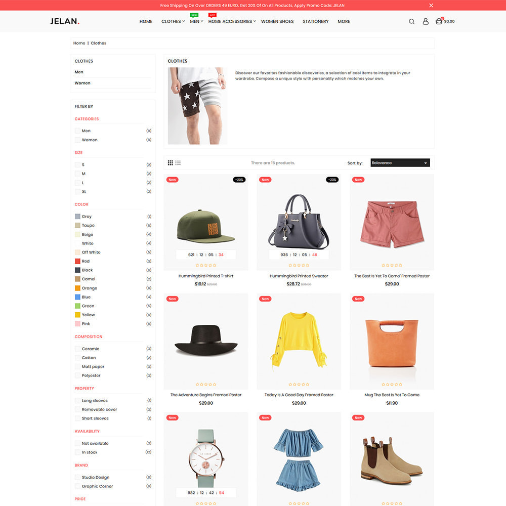 theme - Fashion & Shoes - Jelan - The Best Fashion Store - 3