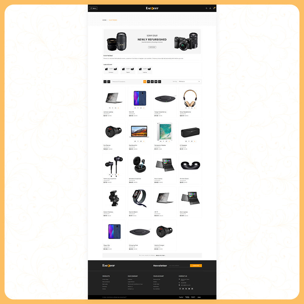 theme - Electronics & Computers - Elettronica –Escocer –Electronic Shop - 3