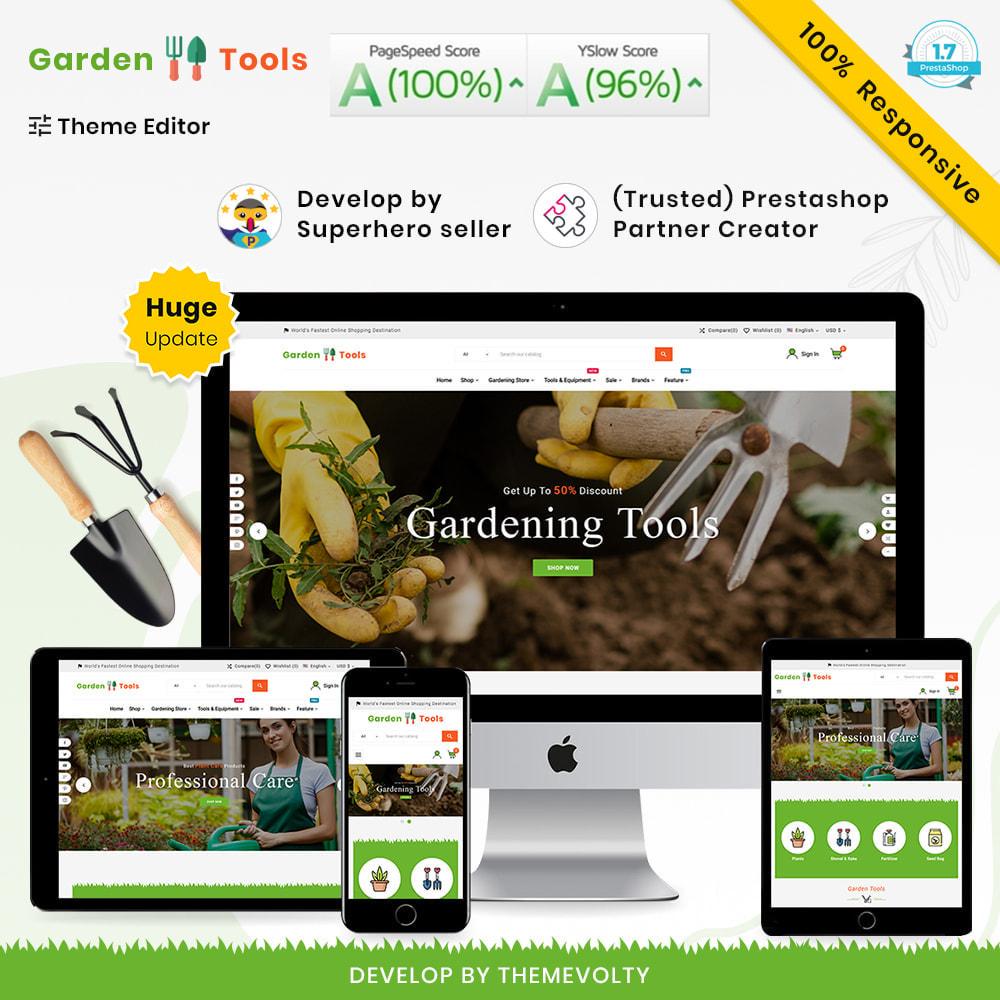 theme - Casa & Jardins - Gardening Mega Garden–Tools Blooming–Plants Store - 1