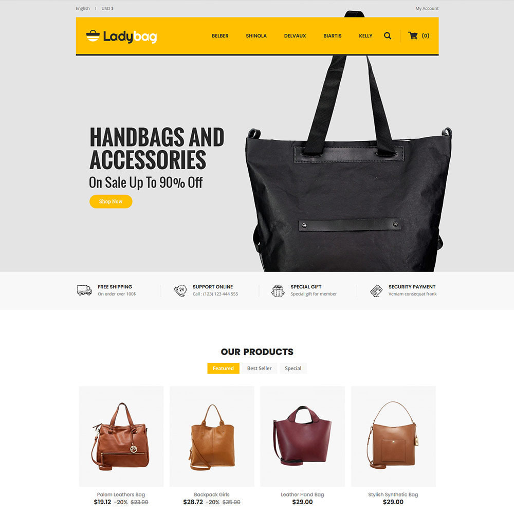 theme - Fashion & Shoes - Ladybag Bag - Watch Accessories Store - 2