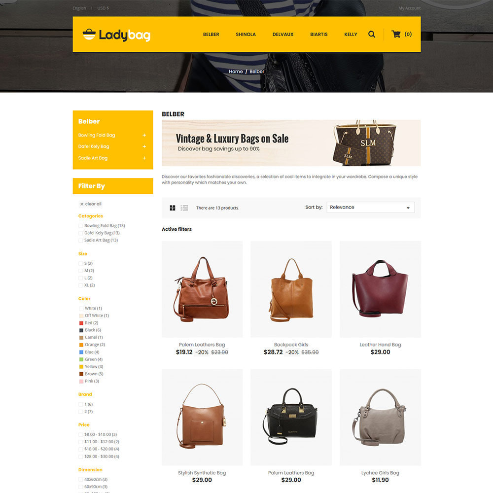 theme - Fashion & Shoes - Ladybag Bag - Watch Accessories Store - 3