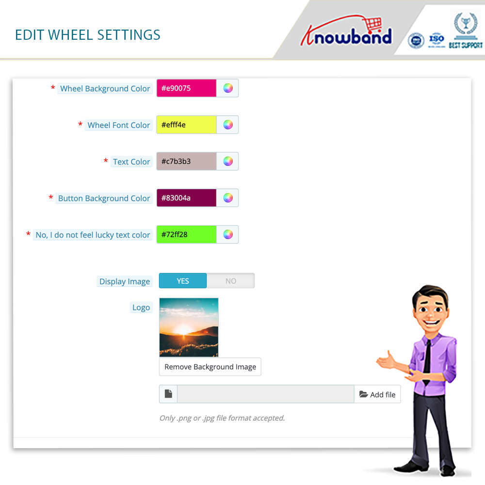 module - Promoções & Brindes - Knowband-Entry,Exit and Subscription Popup-Spin and Win - 7