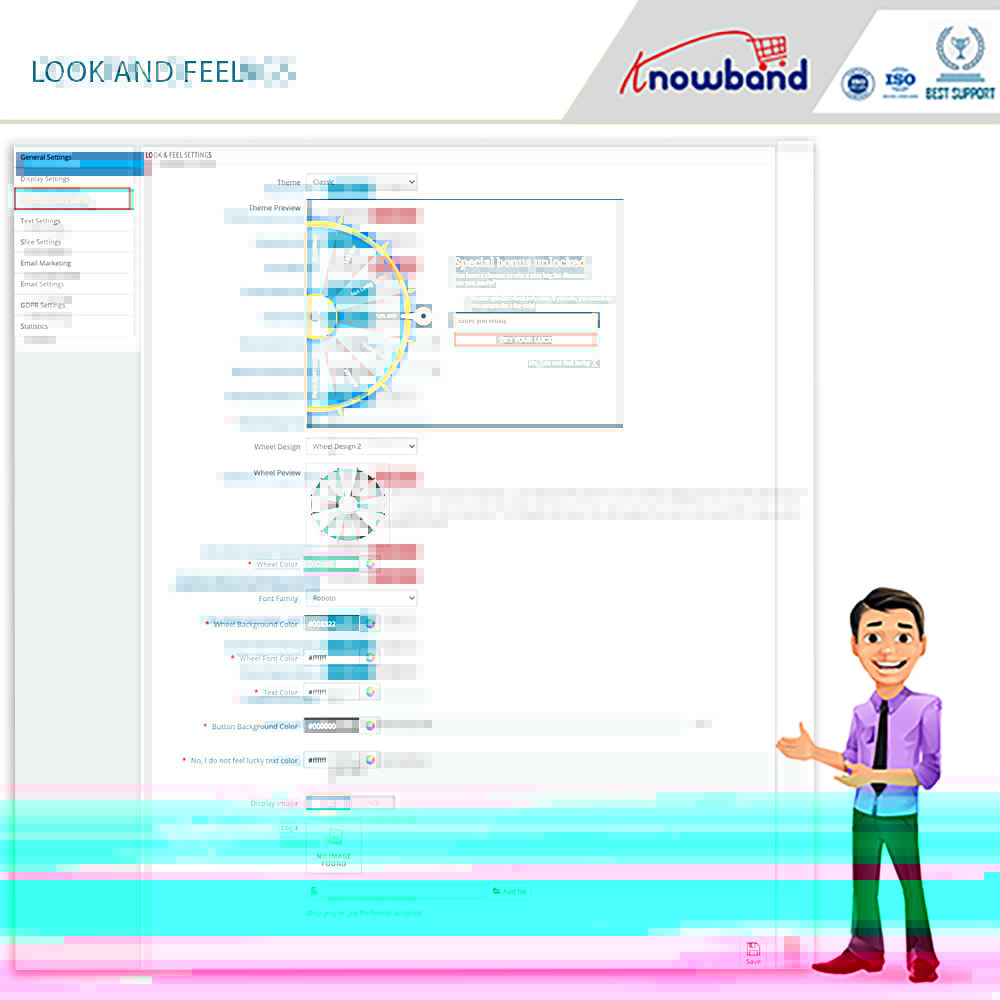 module - Акции и Подарки - Knowband-Entry,Exit and Subscription Popup-Spin and Win - 9