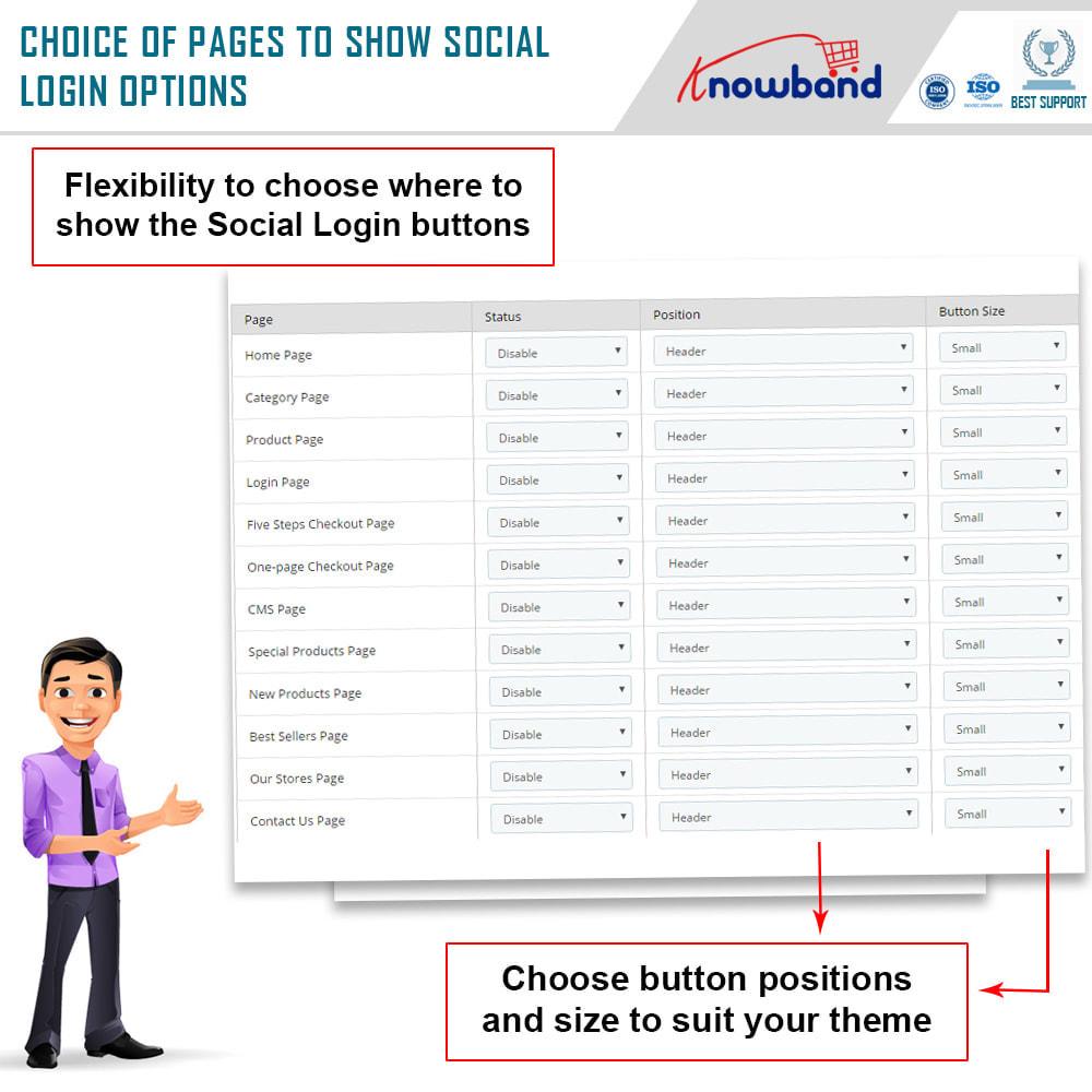 module - Botones de inicio de Sesión/Conexión - Knowband-Acceso Social 14 in 1,Estadísticas & MailChimp - 6