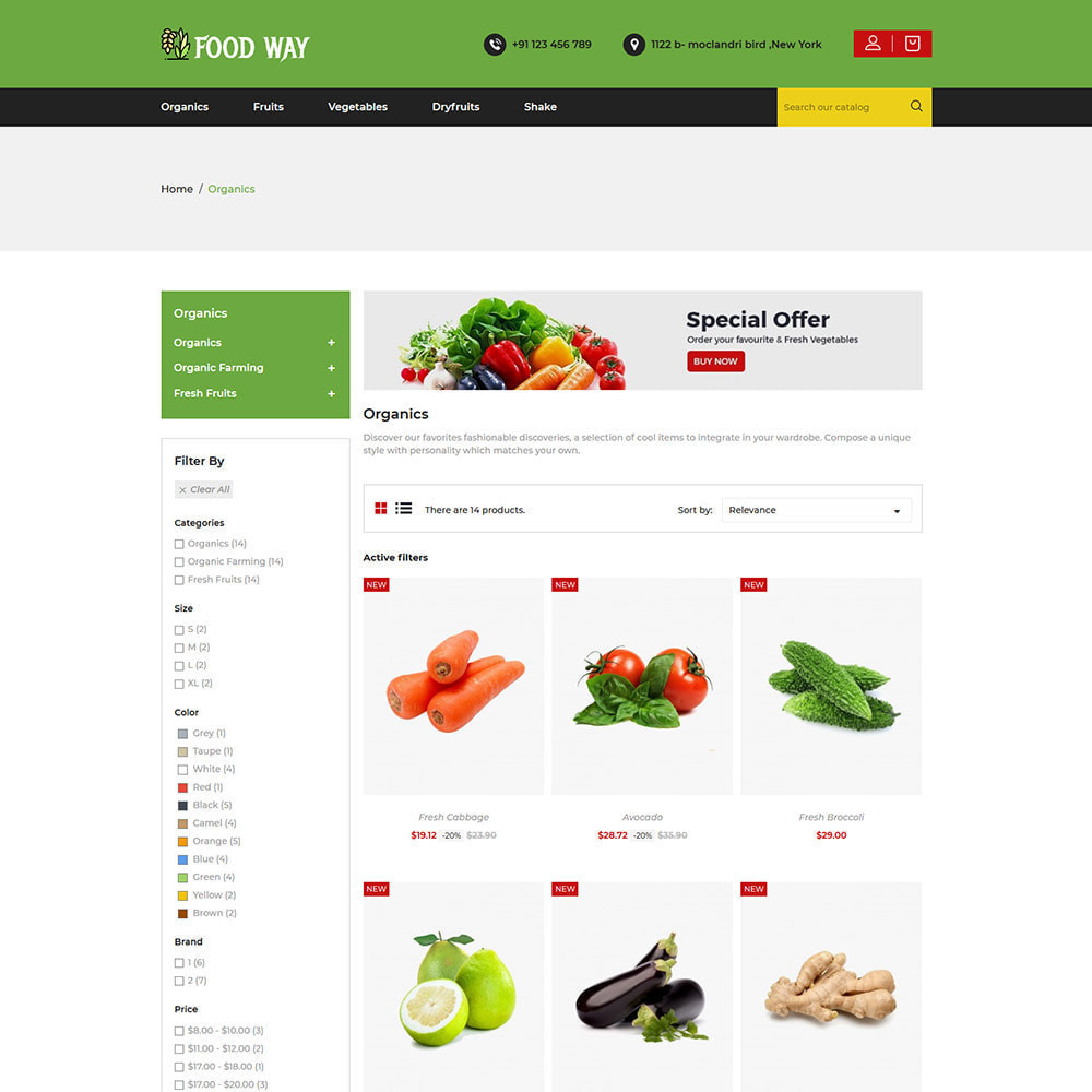 theme - Alimentation & Restauration - Organic Food  - Vegetable Fruit Beans Store - 3