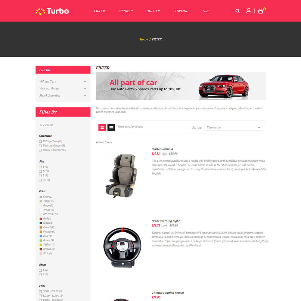 theme - Automotive & Cars - Motors Spare Parts  - Auto Car  Tool  Store - 4