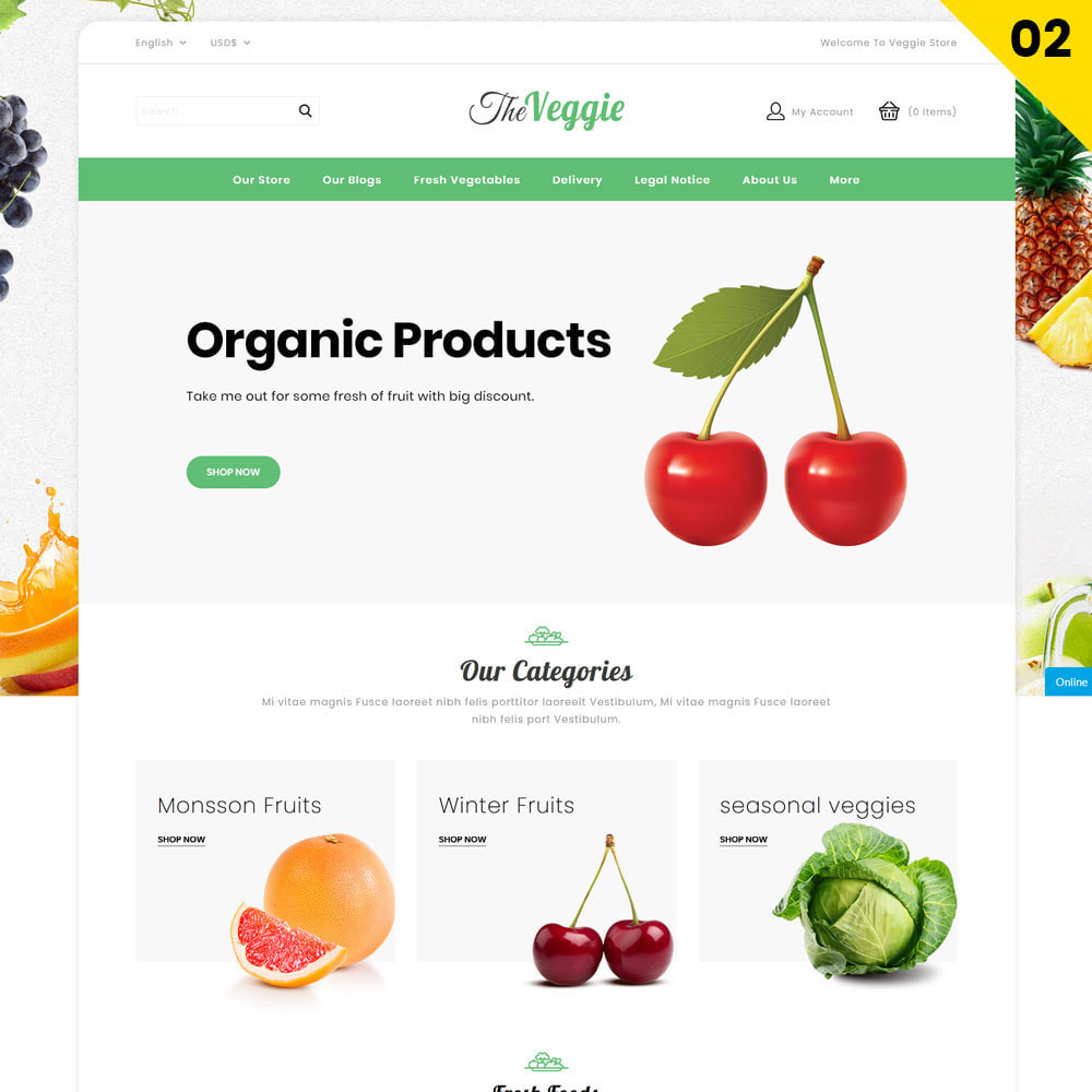 theme - Food & Restaurant - Veggie  - The Organic Store - 4
