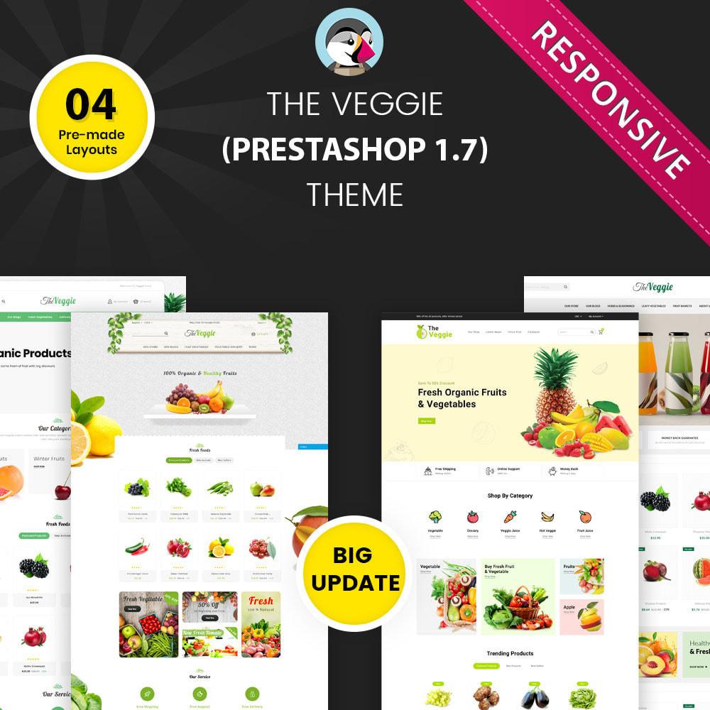 theme - Gastronomía y Restauración - Veggie - La tienda de productos orgánicos - 1