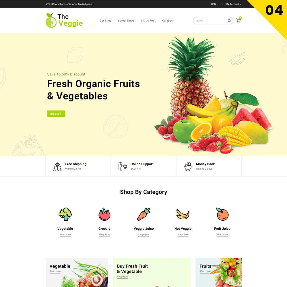 theme - Cibo & Ristorazione - Veggie - The Organic Store - 6
