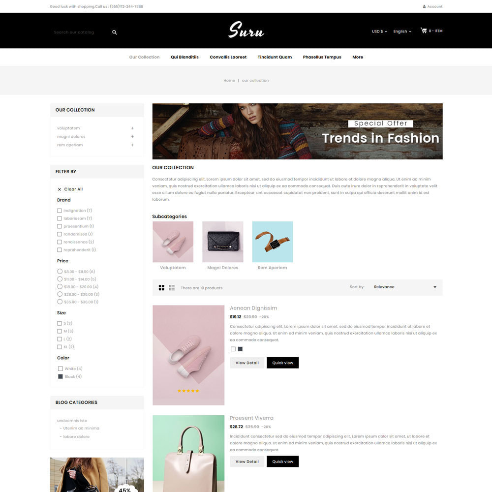 theme - Fashion & Shoes - Suru - The fashion store - 5