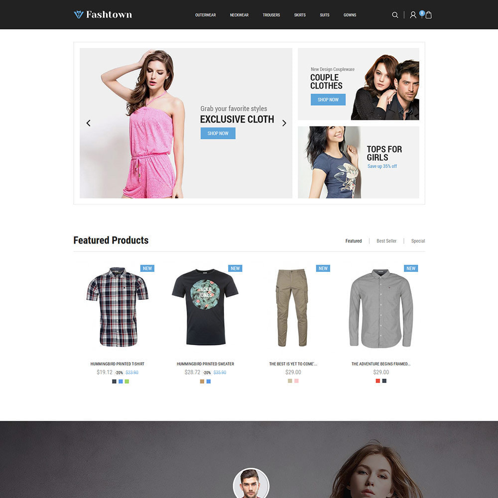 theme - Fashion & Shoes - Fashtown Cloth - Fashion Designer Store - 2