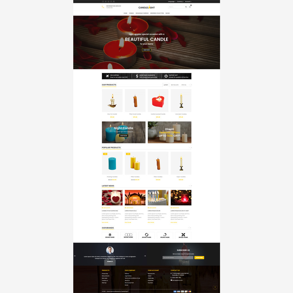 theme - Gifts, Flowers & Celebrations - Candle Store - 2
