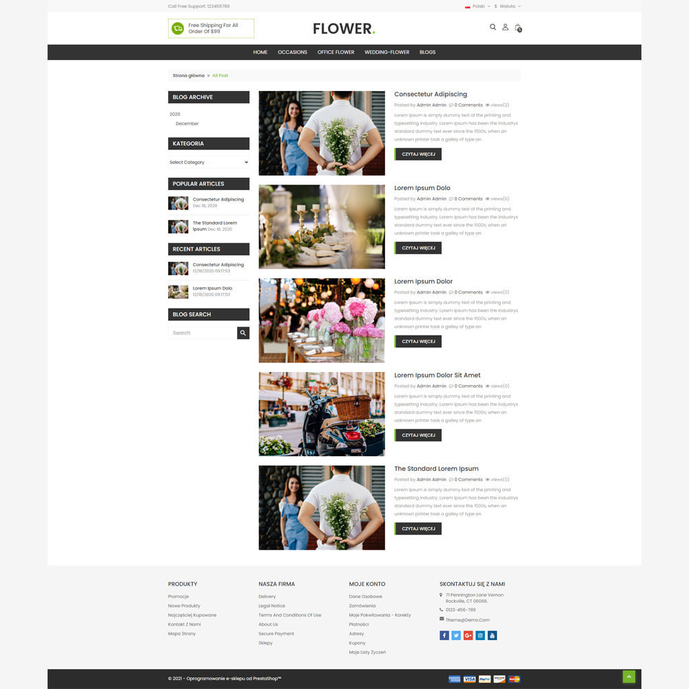 theme - Prezenty, Kwiaty & Uroczystości - Kwiaciarnia - 5