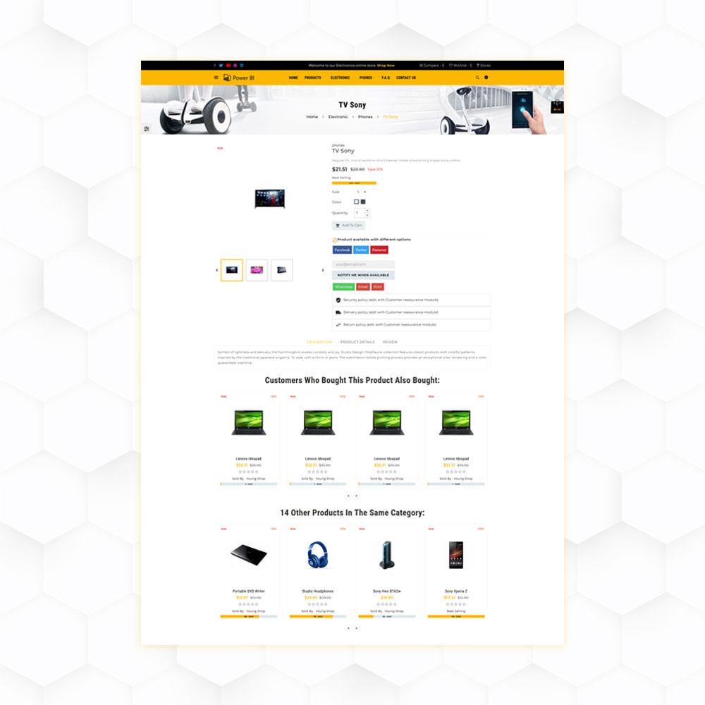 theme - Eletrônicos & High Tech - PowerBI Electronic Store - 5
