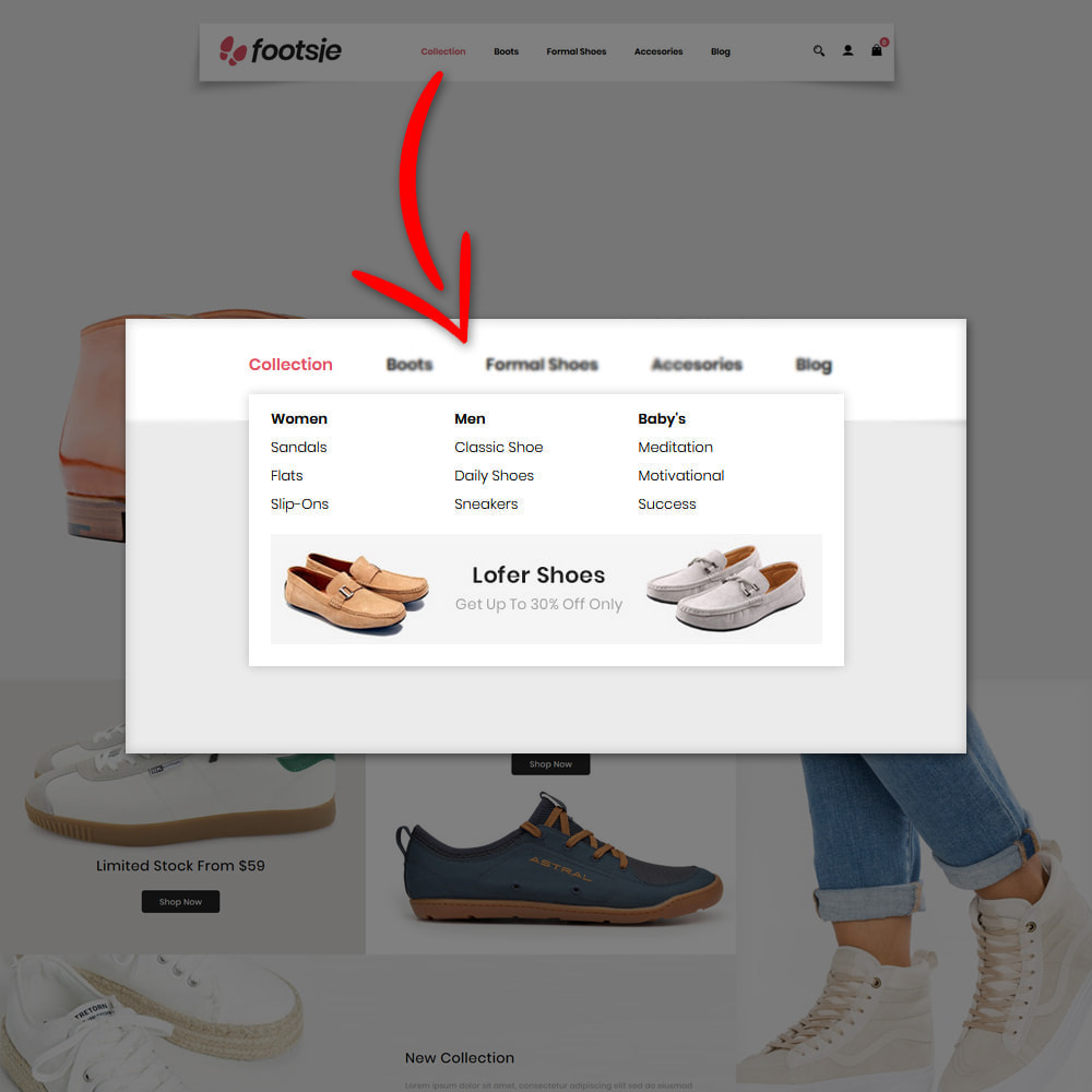 theme - Mode & Chaussures - Foots - Shoes Store - 6
