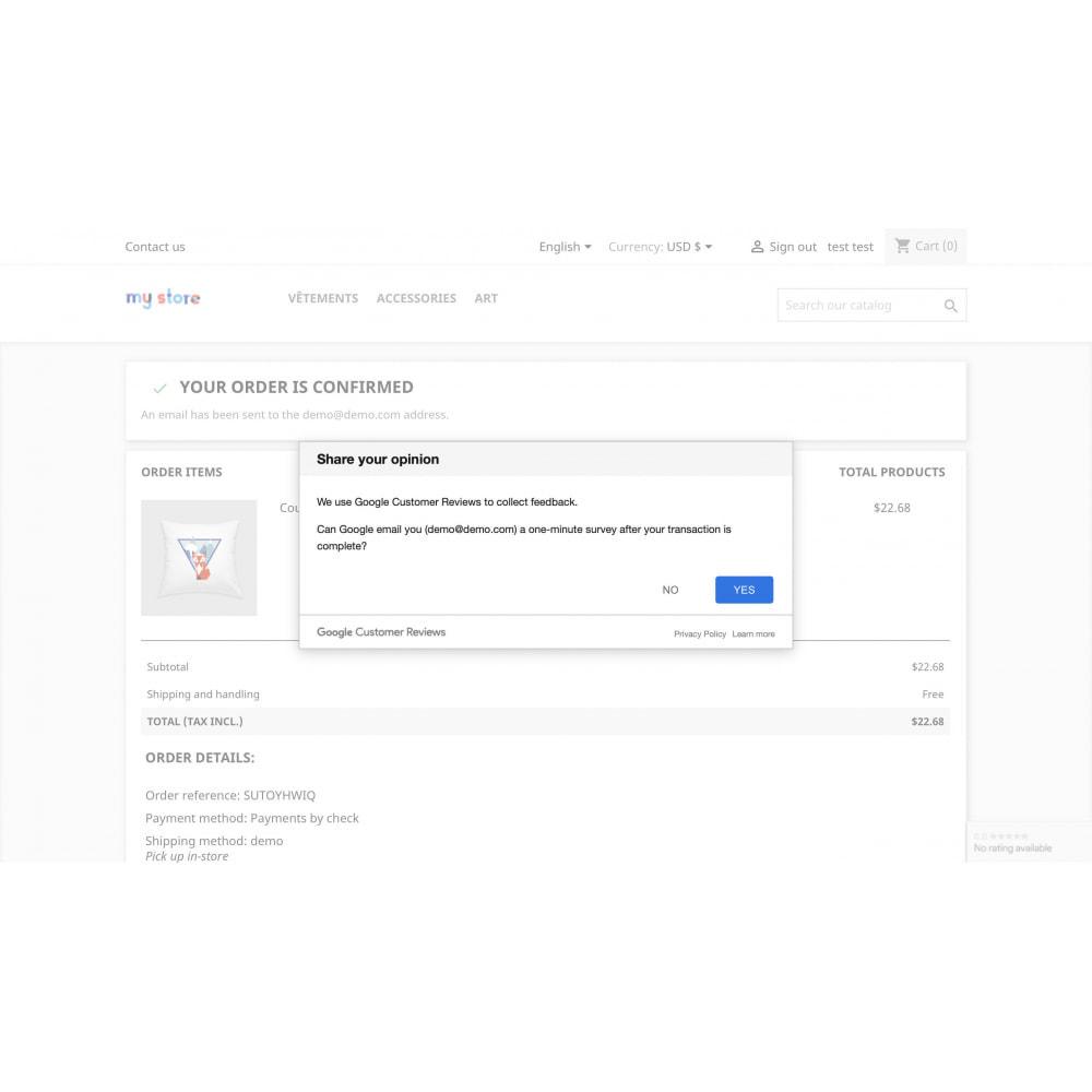 module - Customer Reviews - Google Customer Reviews by Google - 2