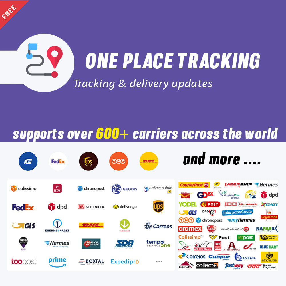 module - Delivery Tracking - Shipping Tracking over 600+ carriers - 1