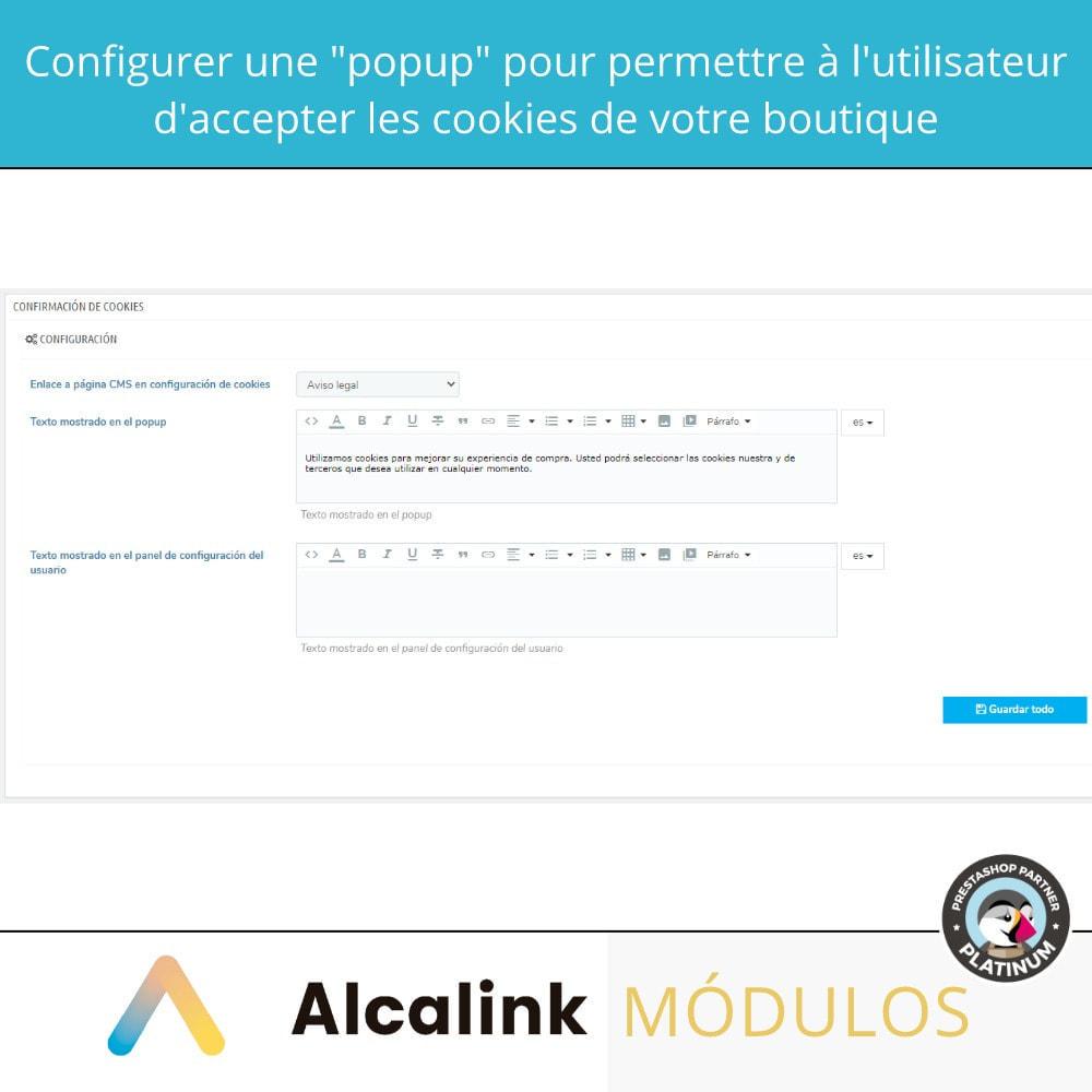 module - Legale (Legge Europea) - Legge sulla configurazione dei cookie - 2021 - 2