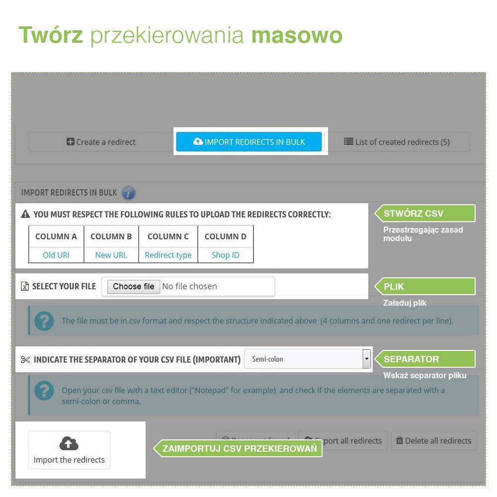 module - URL & Przekierowania - Przekierowanie 301, 302, 303 adresów URL i 404 – SEO - 3