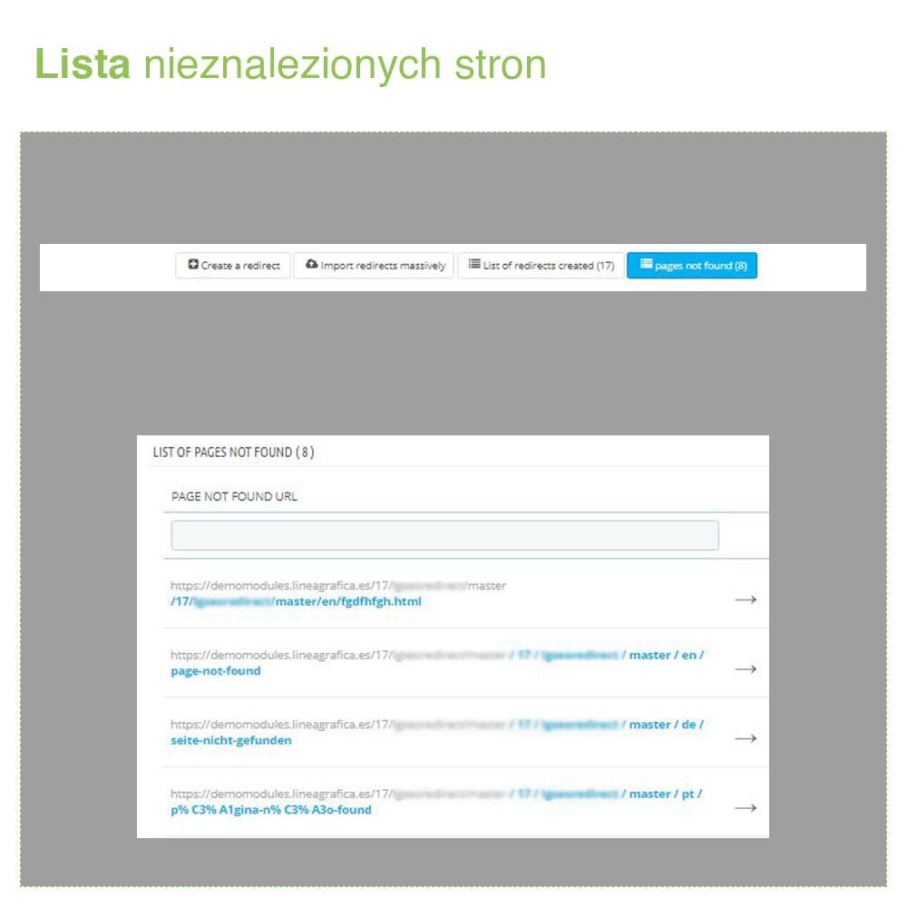 module - URL & Przekierowania - Przekierowanie 301, 302, 303 adresów URL i 404 – SEO - 6